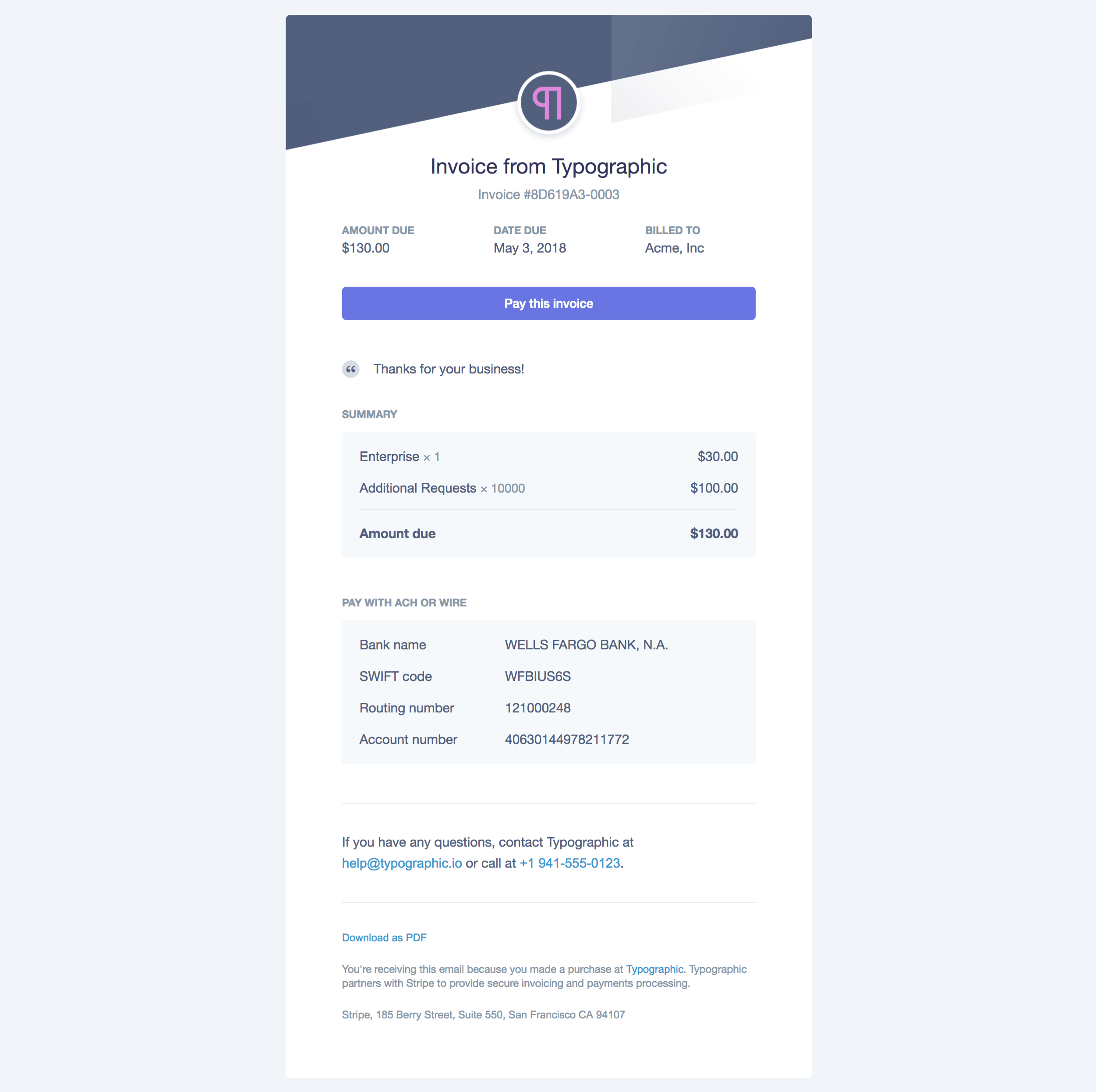 Sending Invoices To Customers - Stripe create invoice for service business