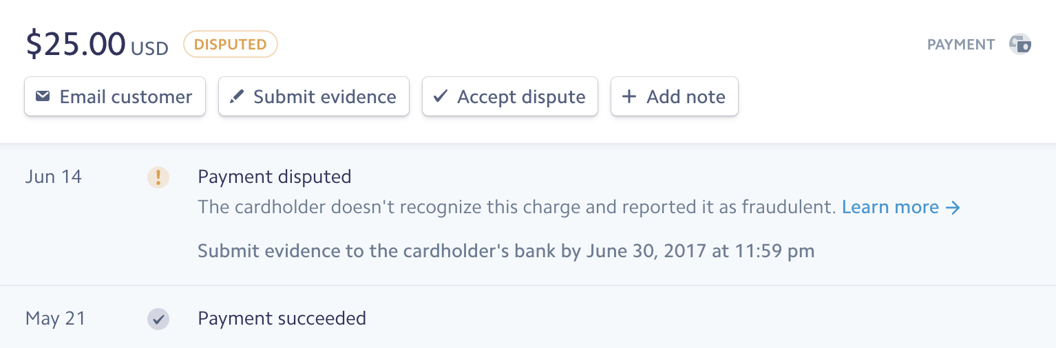 Disputes and Fraud | Stripe