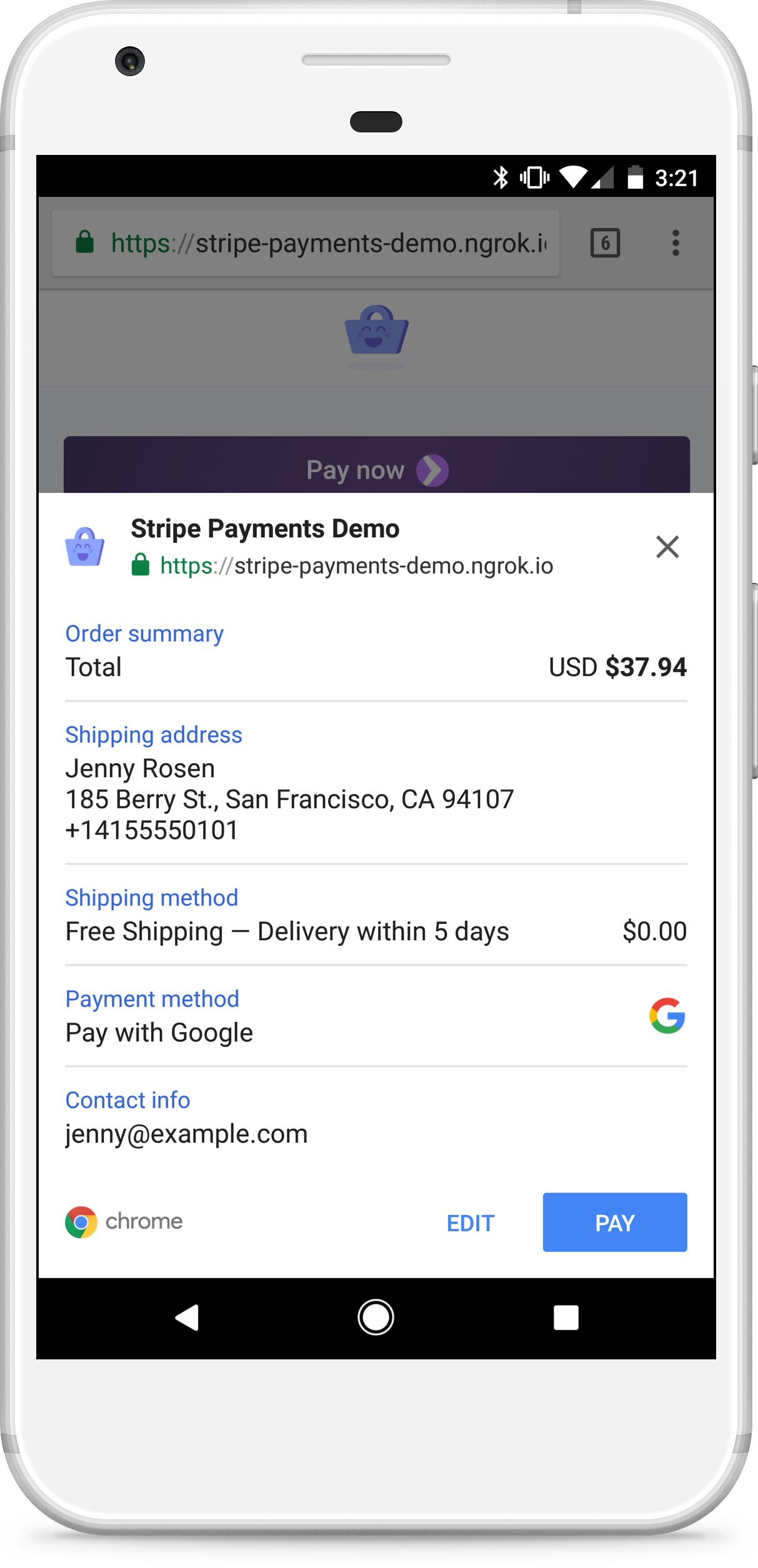 Payment Request Button | Stripe Elements